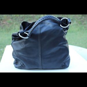 Lucky brand whipstitched hobo bag